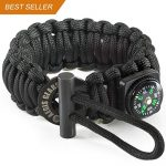 AEGIS GEARS Paracord Bracelet MODEL S King Cobra Military Spec 550 Parachute Cord Adjustable Survival Bracelet Ferrocerium Fire Starter & Compass. Everyday Carry EDC Tactical Survival Gear for Outdoor