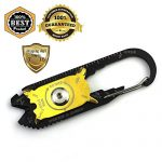 MeanHoo 20in1 Utility Pocket Tactical Multi-Purpose Carabiner Wrench Gear Key Holder Clip Folder Keychain Keychain Survival Tool Sets